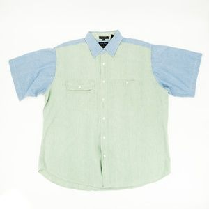 Vintage Members Only Button Shirt Flap Pocket XL